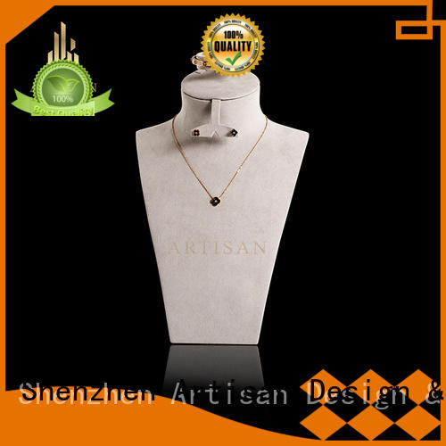 Quality Artisan Brand pu holder Necklace Display Bust stand