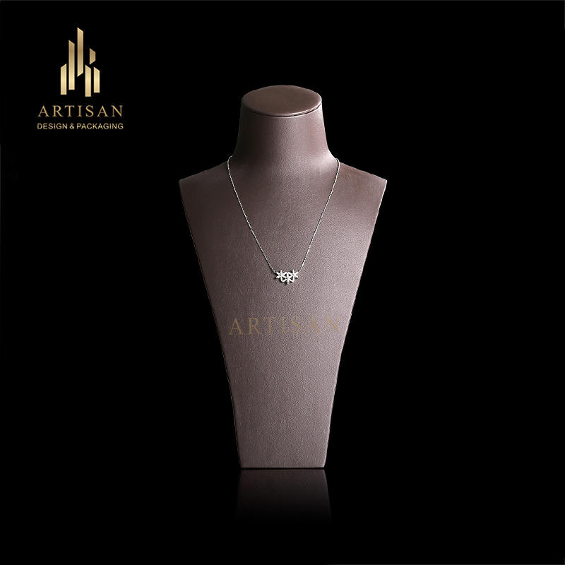 Pu leather Jewelry Display Bust Necklace Display Stand Wholesale