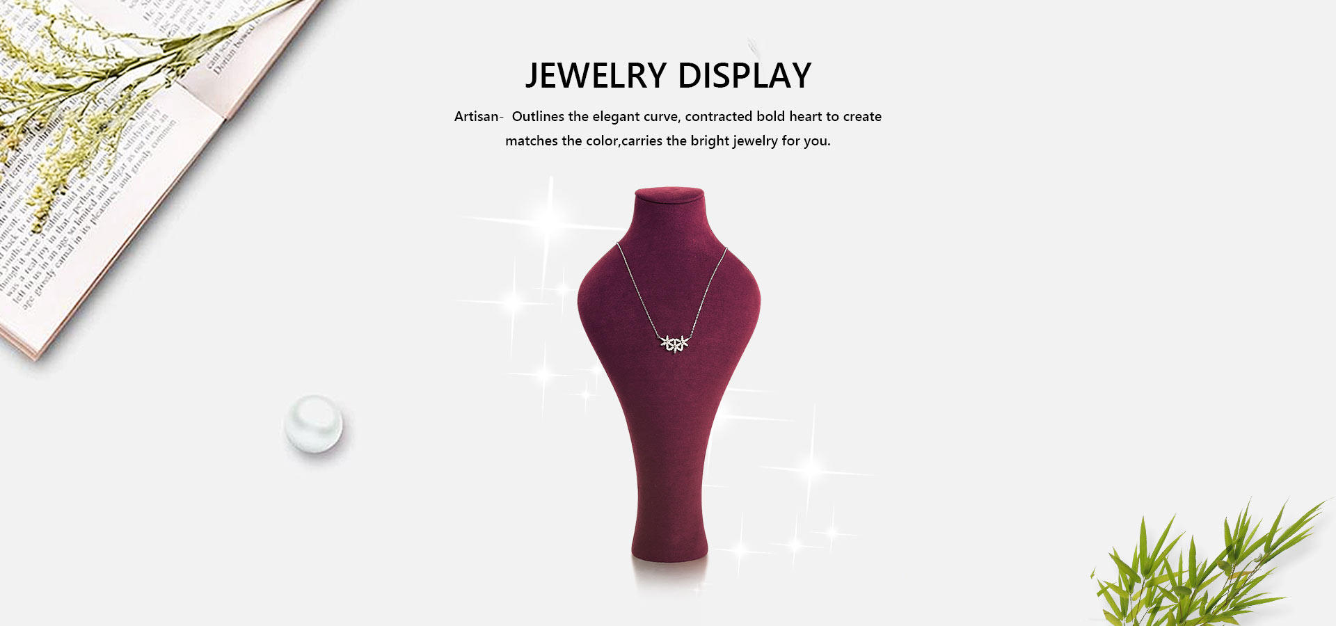 Hot Necklace Display Bust stand necklace Artisan Brand