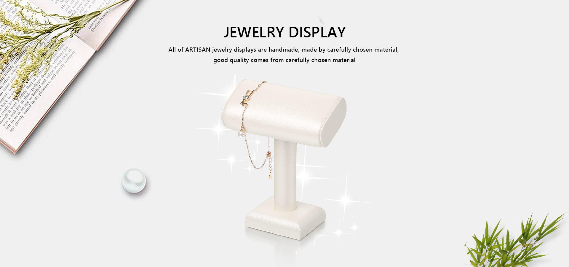 counter necklace design velvet jewelry display stands Artisan Brand