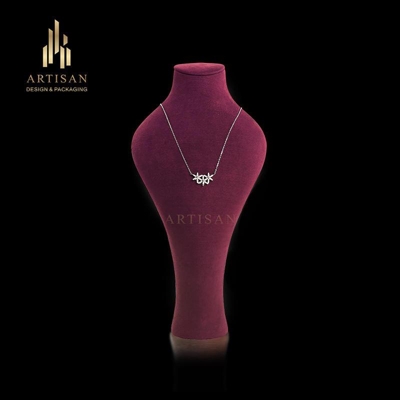 Fashion purplish Mannequin Jewelry Display Stands Bust
