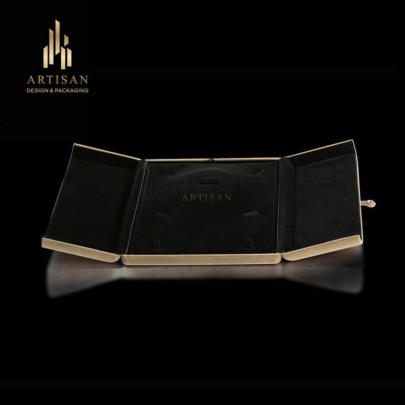 Hot sale luxury velvet jewelry packaging box