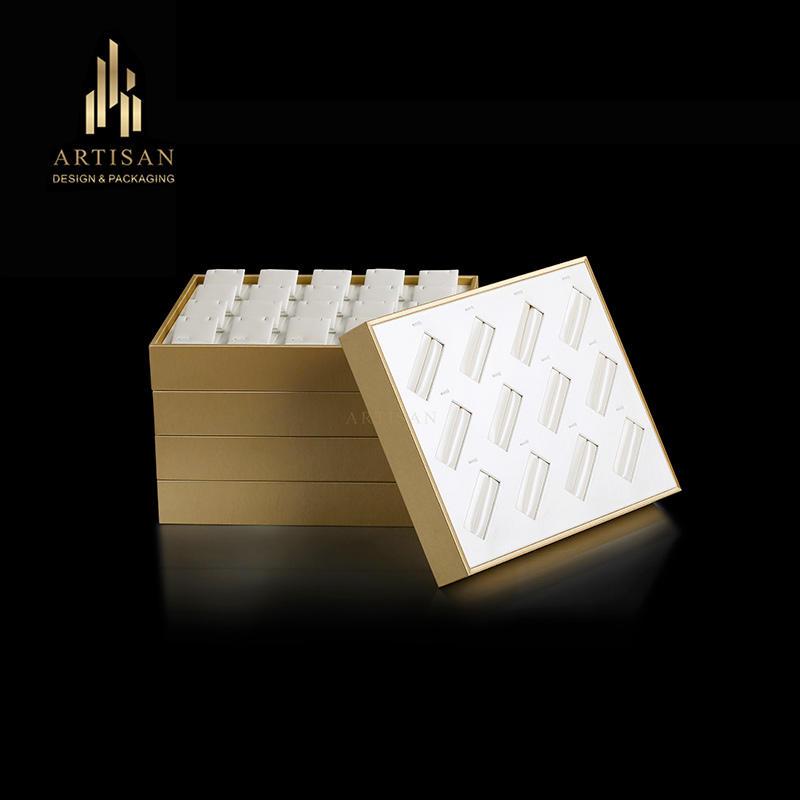custom 12 grids wooden insert jewelry bangle display tray