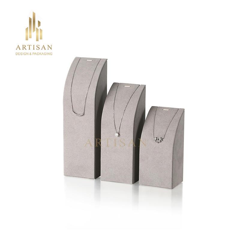 Custom Microfiber Necklace Jewelry Display Stand set