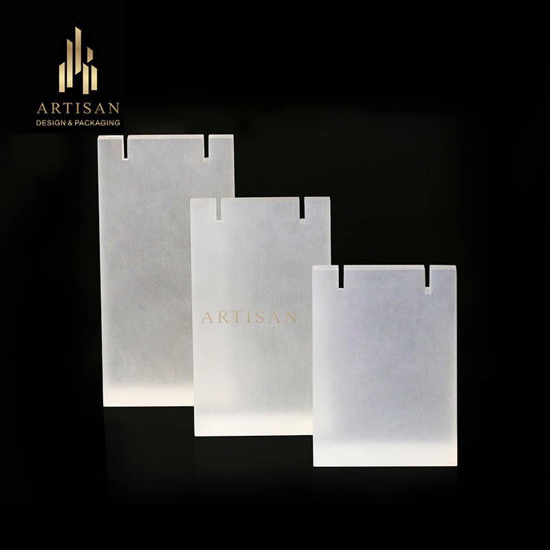 Desktop frosted acrylic pendant necklace display stands