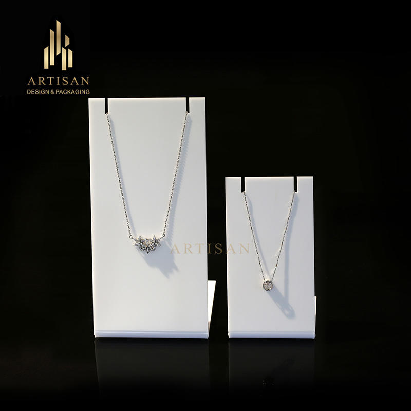 acrylic jewelry necklace display stand for counter top display
