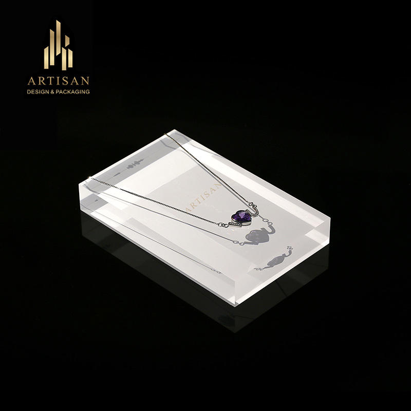 clear acrylic pendant necklace display stand holder