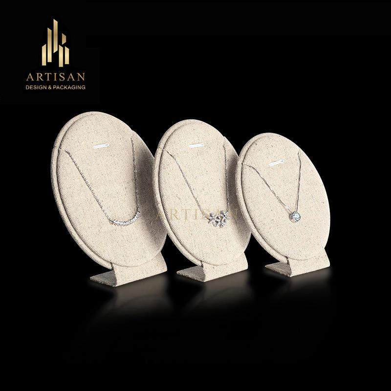 Artisan L shape linen pendant display set stand