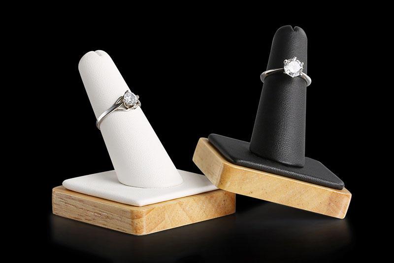 clear long jewelry display stand shape Artisan company