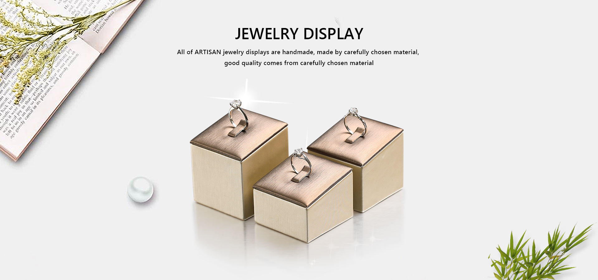 long Jewelry Rings Insert Display Stand manufacturer for counter top display Artisan
