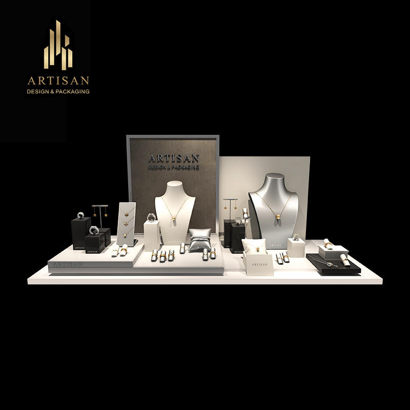 Custom Luxury Showcase Jewelry Display Sets With Stand