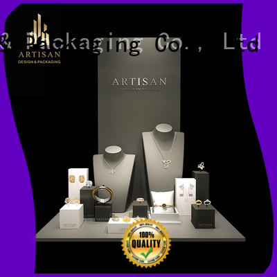 luxury window stand jewelry display set for window display Artisan manufacture