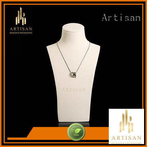 necklace display holder microfiber Necklace Display Bust stand Artisan Brand