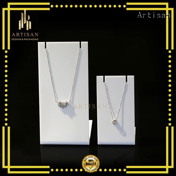Quality Artisan Brand velvet jewelry display stands hanging