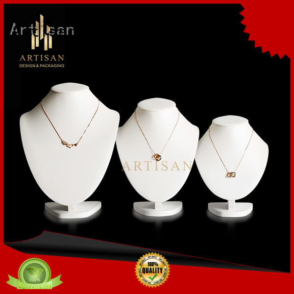 jewelry bust stand with pu leather Artisan