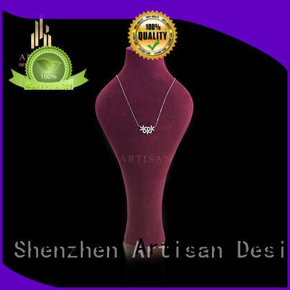 Artisan microfiber necklace bust manufacturer