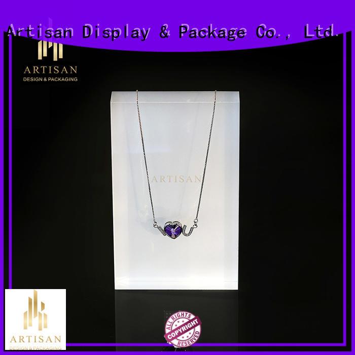 stockable bar velvet jewelry display stands Artisan Brand