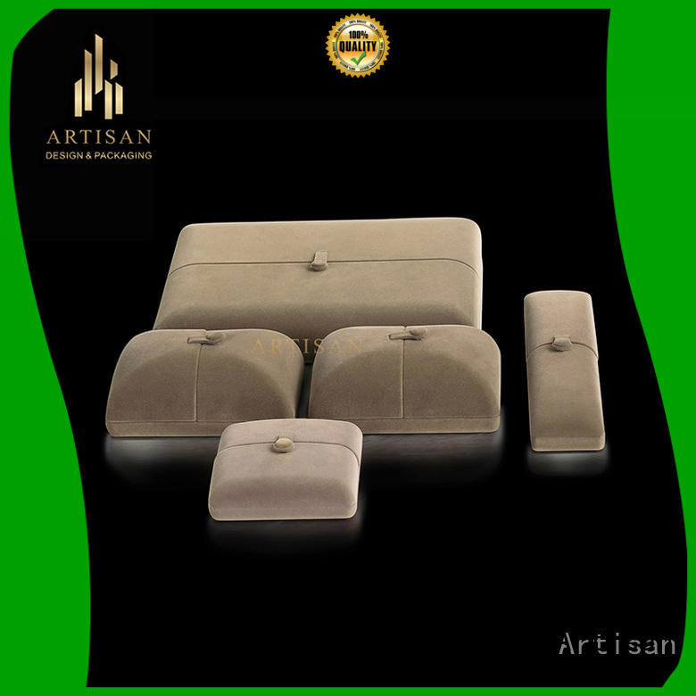 Artisan velvet wooden display boxes wholesale high quality for sale