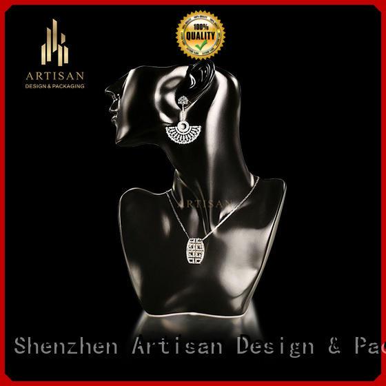 jewelry neck display with matt black painted Artisan