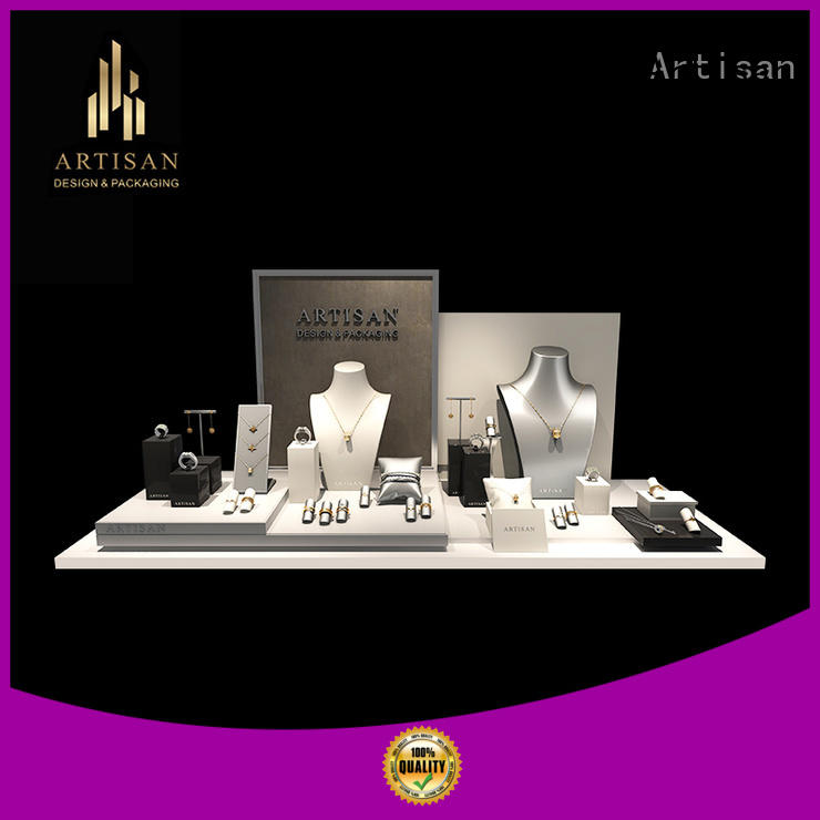 Artisan Brand counter store personalized custom jewelry display set for window display