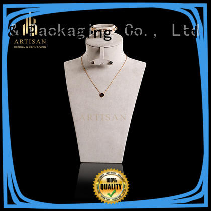 microfiber necklace and earring display stands with quality craft for sale