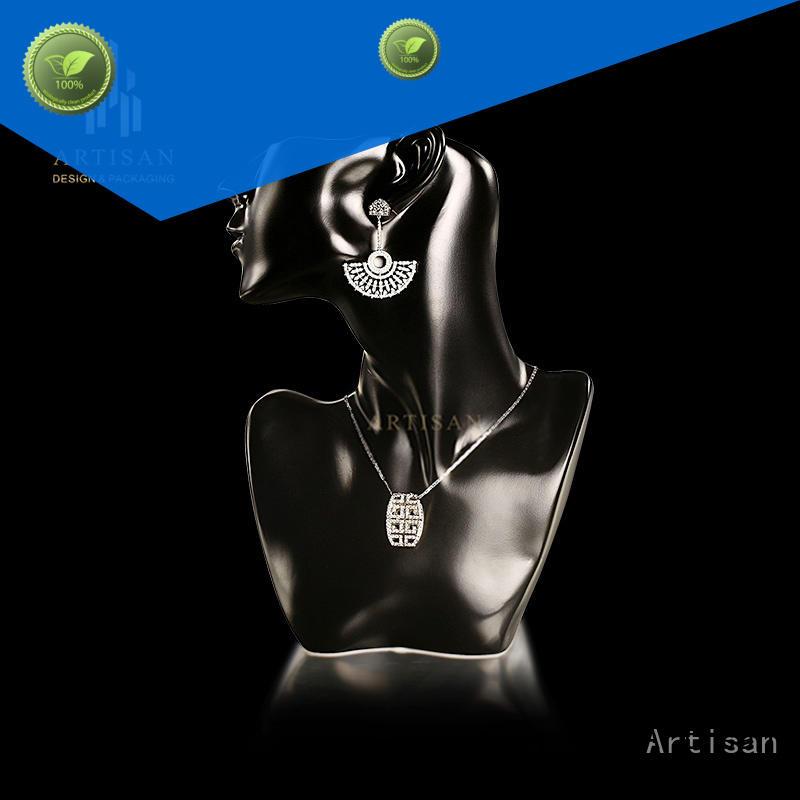 display Custom pu microfiber Necklace Display Bust stand Artisan paint